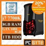 Intel 4-Core i7 7700K 4.5GHz 8GB 1TB GTX 1080 8GB $1519.20 Gaming Computer Delivered @ PC Byte eBay
