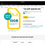 Optus $10 Sim Starter Kit for $3 - Includes 15GB (7 Day Expiry). Limit 1 Per Customer @ Optus