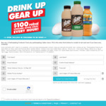 Win a Share of 672 $100 Rebel Sports Vouchers from LD&D Australia (Purchase 2 Participating Products from Caltex)