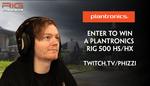 Win a Plantronics RIG 500 HS/HX Headset Worth $99 from Plantronics ANZ/Phizzi