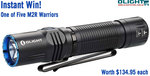 Instantly Win One of Five Olight M2R Warrior Torches from Olight