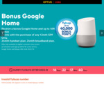 FREE Google Home on Selected Optus Plans and Collect up to 40,000 Bonus Flybuys Points (3 Months Free on Sim Only Plan)