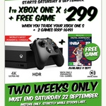 Xbox One X and NBA 2K19 $299 (When you Trade in Xbox One S + 2 Games) @ EB Games