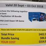 PlayStation VR Bundle + Until Dawn: Rush of Blood $314.98 @ Costco (Membership Required)