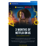 3 Months Netflix Free to PlayStation Plus Subscribers