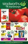 Tim Tam $1.82, Doritos $1.64, Easy Mac $2, Chicken Kiev $1.3, Mars Frozen Bars $4.25, Sara Lee 1L, Bulla 2L $4.25 @ Woolworths
