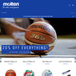 20% off Everything - Two Days Only @ Molten.com.au
