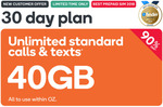 40GB Prepaid | 30 Days | $4.90 @ Kogan Mobile (New Customers)