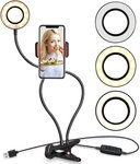 Selfie Ring Light with Mobile Phone Holder Stand $12.50 (Was $20.86) + Shipping ($0 with Prime / $39 Spend) @ Ubeesize Amazon AU