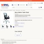 Buro Metro Task Chair with Adjustable Arms $239.20 Delivered @ Winc