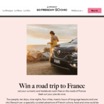 Win a Gastronomic & Cultural Road Trip in France for 2 Worth $9,000 from So Frenchy So Chic