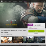 The Witcher 3: Wild Hunt - Game of The Year Edition US $16.01 (~AU $23.65) @ GOG
