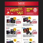 480GB WD Green $52, Corsair Vengeance Pro RGB 16GB 3200MHz $129, Selected MSI Motherboards $100 off @ MSY (in Store Only)