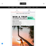 Win a $3,000 Travel Voucher, $1,000 Cash & LSKD Products from LSKD