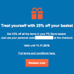[PS4] 25% off @ PlayStation Store