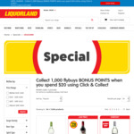 1000 Bonus flybuys Points (Worth $5) with $20 Click & Collect @ Liquorland