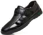 Summer Large Size Hollow Leather Men's Sandals - US $23.99 (~AU $35.45) Delivered @ Wholesale Win