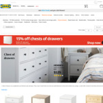 IKEA 15% off Chest of Drawers