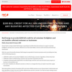 [BF] Red Energy to Provide $200 Bill Credit for All Volunteer Firefighters and Any Bushfire-Affected Customers