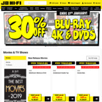 30% off Movies, TV Shows & Box Sets on DVD (expired), Blu-Ray, & 4K, Nintendo Switch $399 @ JB Hi-Fi