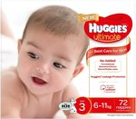 Huggies Ultimate Nappies, Unisex, Size 3 72 Count $25 ($21.25 with S&S with Prime) + Delivery (Free with Prime) @ Amazon AU
