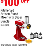 KitchenAid KSM150 with Slicer Bundle $499 @ Costco (Membership Required)