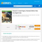 [XB1] Assassin's Creed Odyssey Deluxe US $22.31 / AU $34.17, Origins US $16.25 / AU $24.89, Unity US $1.30 / AU $1.99 @ Bcdkey