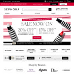 15 or 20% off Sitewide for Members (Free Sign-up, Free Shipping with $65) @ Sephora Online & in-Store
