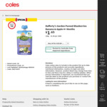 Rafferty's Garden Pureed Baby Food 10 for $10 @ Coles