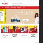 $20 off for New Customers with $100 Min Spend & Free Delivery @ Coles