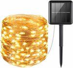 Solar Powered String Lights LED Copper Wire Lights $13.99+Delivery ($0 with Prime/$13.99 Spend) @ AMIR&ORIA Direct via Amazon AU
