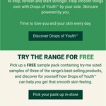 Free Drops of Youth™ Sample Pack @ The Body Shop