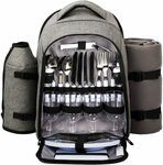 Hap Tim Waterproof Picnic Backpack for 4 Person with Cutlery Set $88.81 Delivered @ Haptim Amazon AU
