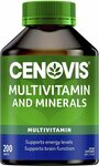 Cenovis Multivitamin and Minerals 200 Tablets $7 (Min 2) + Delivery ($0 with Prime & $39 Spend) @ Amazon AU