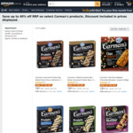 Save up to 40% off RRP on Select Carman's Range: 5 Bar Packs from $3.50 + Delivery ($0 with Prime/ $39 Spend) @ Amazon AU