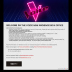 [NSW] Free Audience Tickets to THE VOICE TV Show @ That's The Ticket
