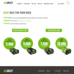 Ego Tools Bonus Battery Offer with $800+ Spend @ EGO Power Plus