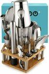 ARSSOO Boston Cocktail Shaker Set 16PC Bartender Kit $61.36 Delivered @ ARSSOO Store via Amazon AU