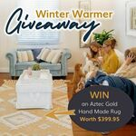 Win an Aztec Gold Woollen Rug Worth $399.95 from Recycled Mats