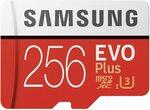 Samsung EVO Plus MicroSDXC 256GB with Adapter $43.80 Delivered @ Sunwood-AU & The Around Australia, Amazon AU