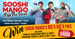 Win a Sooshi Mango Prize Pack Including Meet & Greet, Premium Tickets, Hotel Stay from Sooshi Mango