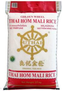 Golden Wheel Thai Hom Mali Rice 10kg $24 @ Woolworths