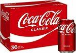 Coca-Cola Sugar, No Sugar, Diet 36 x 375ml Cans $24.18 ($21.76 S&S) + Delivery ($0 with Prime/ $39 Spend) @ Amazon AU