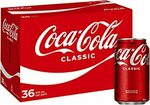 Coca-Cola Sugar, No Sugar (Sold Out), Diet 36 x 375ml Cans $24.75 ($22.28 S&S) + Delivery ($0 with Prime/ $39 Spend) @ Amazon AU