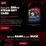 Get up to US$50 Steam Gift Card When Purchasing a Qualifying MSI Product (eg Motherboard/Case/PSU) @ MSI