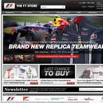 F1 Store: Free Worldwide Delivery min. $75 spend + Free Monaco poster + $15 off