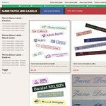 Woven Name Labels - 15% Discount and Free Shipping Worldwide!