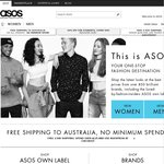 ASOS 10% off Purchases over $75