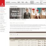 Emirates Make 2014 a Year to Remember Speacials - eg. Melb > Auckland $329 Return