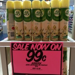 Airwick 185g Air Freshener Vanilla 4 in 1 $0.99 at Roy Young Chemist (Chatswood Westfield, NSW)